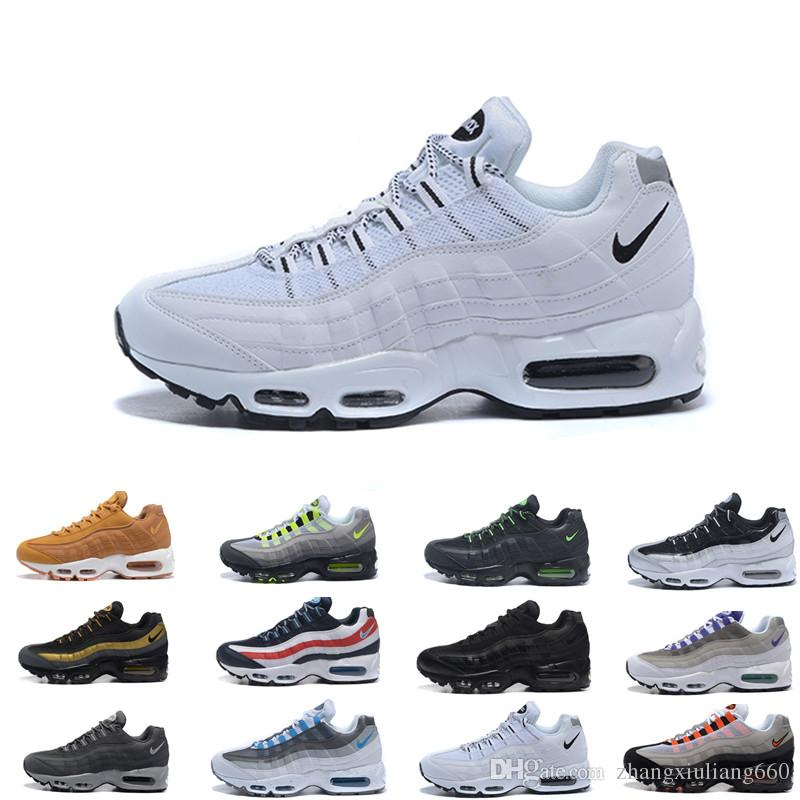 Drop Shipping Wholesale Running Shoes Men Cushion 95 OG Sneakers Boots Authentic 95s New Walking Discount Sports Shoes Size 36-46 A415
