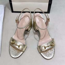 Orgin Package 2020 Luxury Bridal Wedding Shoes Real Leather Gold Heels Designer Sandals Size 34 to 41 tradingbear