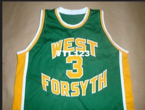 Uomini Vintage # 3 Chris Paul maglia WEST FORSYTH HIGH SCHOOL Collegio formato S-4XL o personalizzato qualsiasi nome o il numero