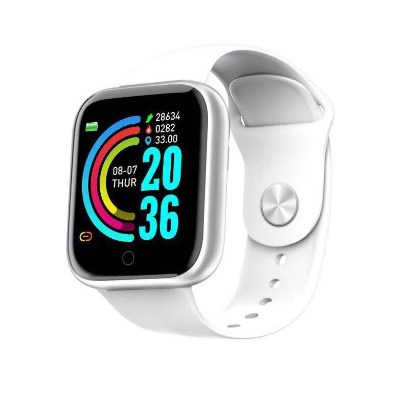 Tela Y68 Bluetooth inteligente Cor Bracelet Big Veja com monitor de frequência cardíaca Wearable Moda portátil Devices Relógio de pulso