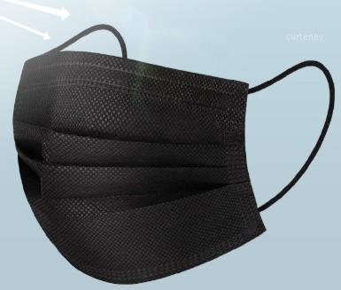 Masques noirs à usage unique visage noir anti-poussière Masque Masque bouche anti pollution jetable coton bouche Masques visage non-tissé masque1
