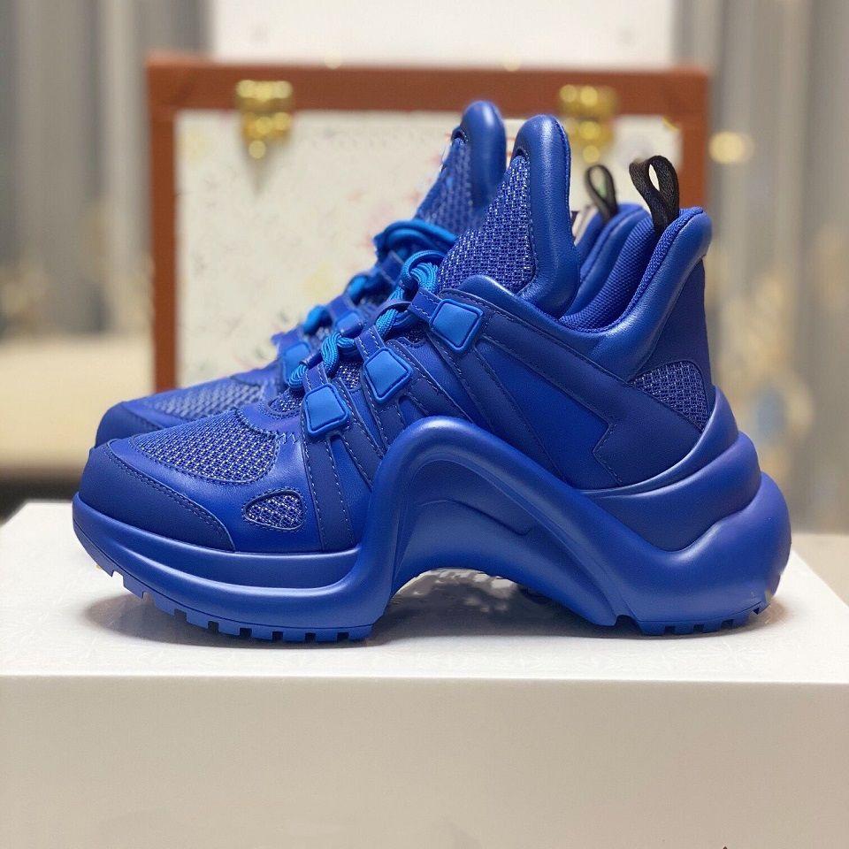 Tasarımcı Ayakkabı Mavi Archlight Sneaker Vintage Günlük Ayakkabılar Lüks Kadınlar Ayakkabı Erkek Sneaker Platformu Çiçek Ayakkabı Triple-S