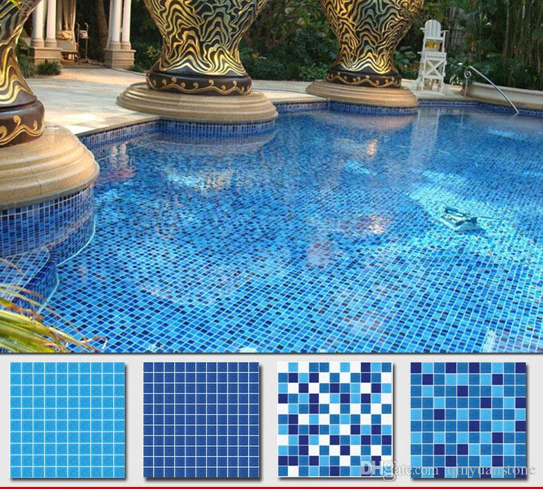 2019 Blue Glass Mosaic Swimming Pool Self Adhesive Mosaic 3cm/2.5cm/2cm  Mixed Blue Mosaic Tiles Kitchen Backsplash Bathroom Tile From Qinyuanstone,  ...