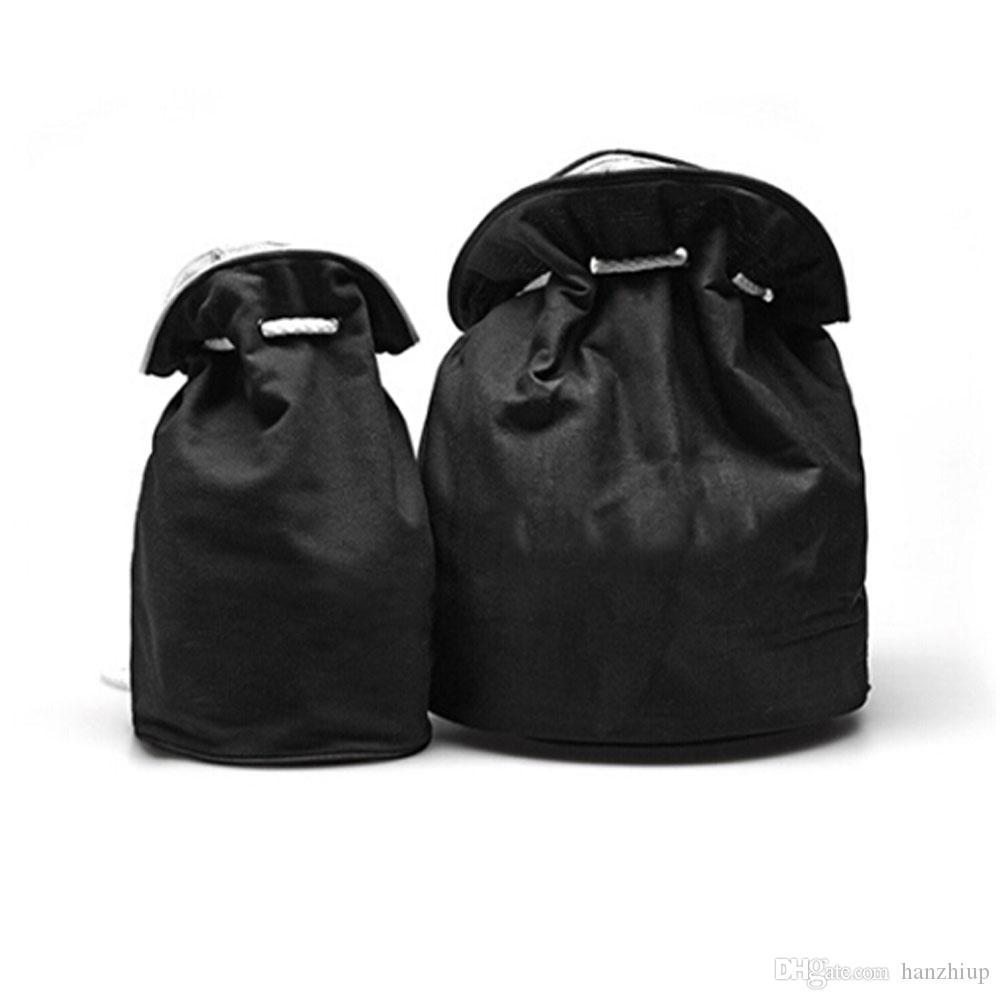 شعار الكلاسيكية الرباط رياضة دلو حقيبة سميكة السفر رسم سلسلة حقيبة المرأة للماء ماكياج غسل حقيبة مستحضرات التجميل حقيبة التخزين