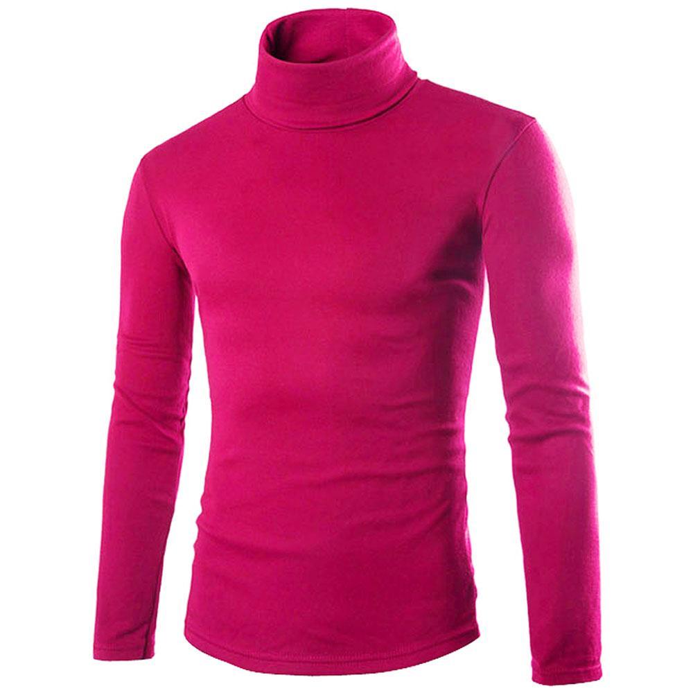 High Collar 2019 뉴 폴 남성 니트 셔츠 슬림 피트 넥 T 셔츠 슬림 피트 탑 워밍업 아시아 사이즈 S M L Xl