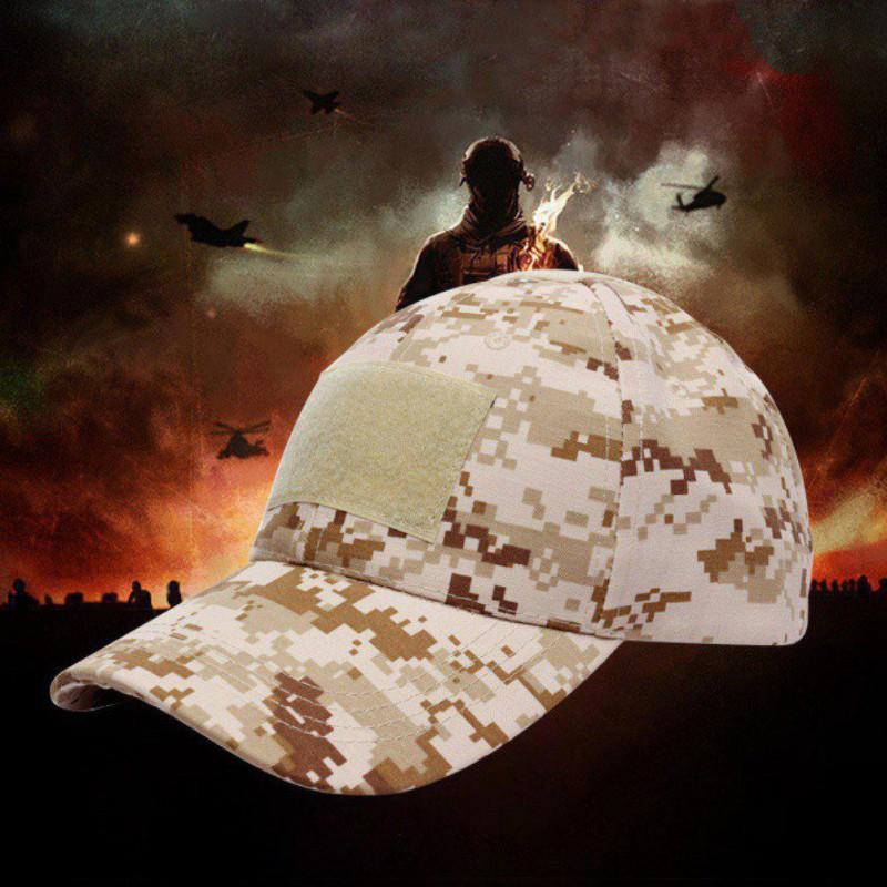 Erkekler Taktik Kamuflaj Askeri Fan Beyzbol Şapkası Basit Güneşlik Ayarlanabilir Snapback Şapka Açık Av Caps