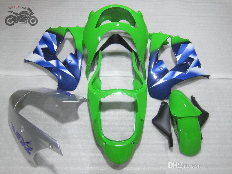 carenagens chineses de alta qualidade para Kawasaki Ninja 1998 ZX9R azul motocicleta verde fairiing kit ZX9R 98 99 ZX 9R 1999