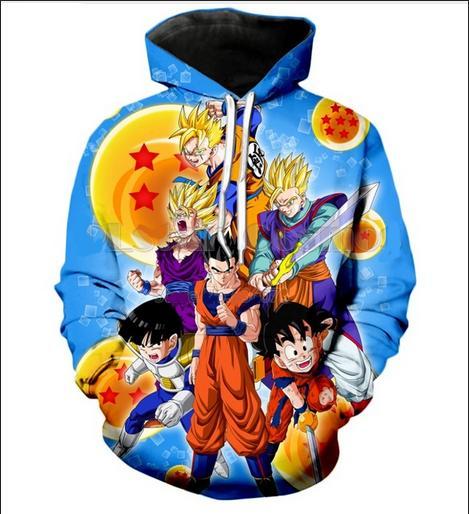 2019 Dragon Ball Z Goku Men Women Hoodies Couples Casual Style 3d