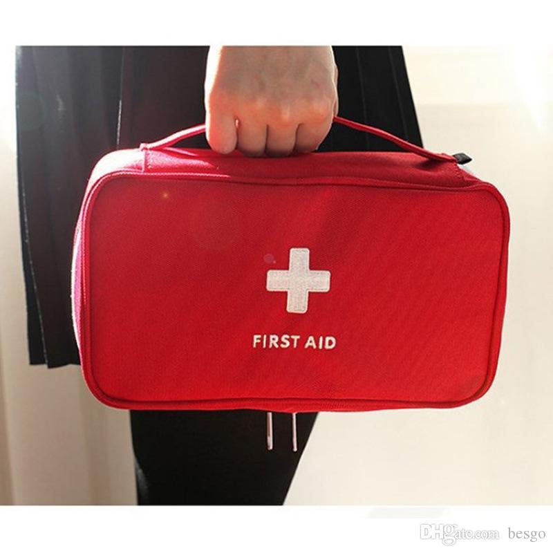 Novo Criativo Portátil Vazio Primeiros Socorros Bag Kit Bolsa Home Office Medical Surge Resgate Case Saco Médico Armazenamento Saco DH0015