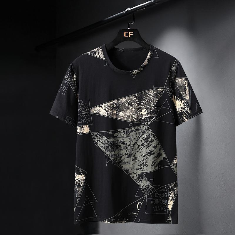 10XL 9XL 8XL 7XL 6XL XXXXL Oversized Men Summer T-shirt Male Short-sleeved Cool Men Printed Loose Casual Men's Big Size Tee