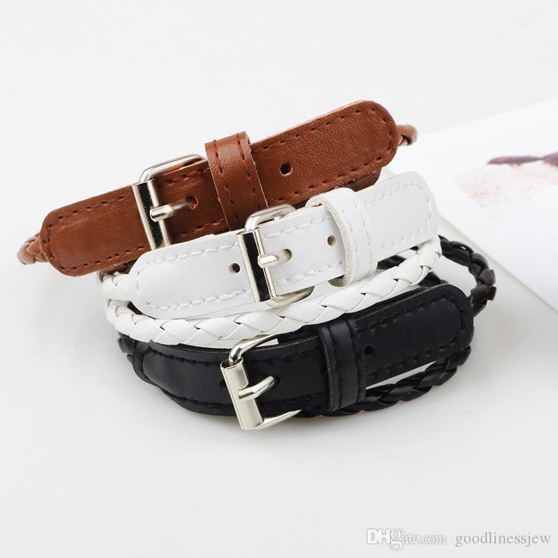 Braccialetti in pelle PU bracciali braccialetti cool Splendidamente bracciale uomo stile casual gioielli moda uomo prezzo di fabbrica Braccialetti infiniti