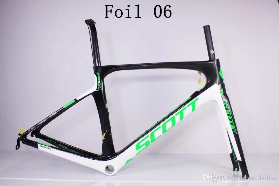 Green logo Foil Full carbon fiber road bike frameset full carbon Road Bike Frame+ Seatpost+ Fork+ Clamp+ Headset