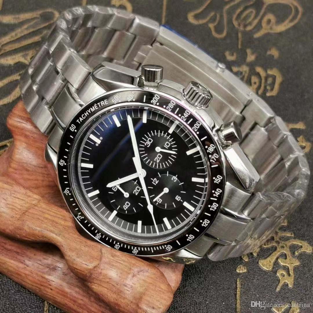 2020 neuer Quarzuhr VK Bewegung Sea Mater Uhren spreedmaster Mann-Uhr-Stahl-Armbanduhr mit Top-Qualität