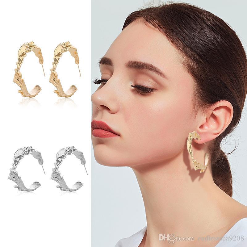 Or Couleur Argent Boucles d'oreilles de mode personnalisé C Conception de bijoux d'oreilles cadeau pour soirée de mariage