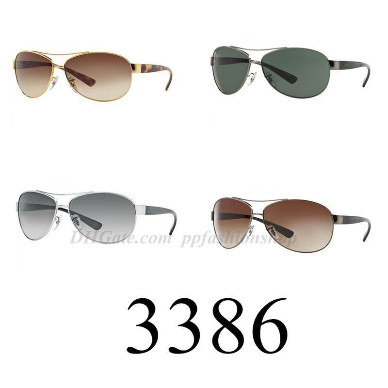 Erkekler Moda Orijinal Sürücü Sürüş Tasarımcısı Retro Güneş Gözlüğü UV400 Koruma 3386 Güneş Gözlükleri Kadın Vintage Marka ve Gözlük Qxsun