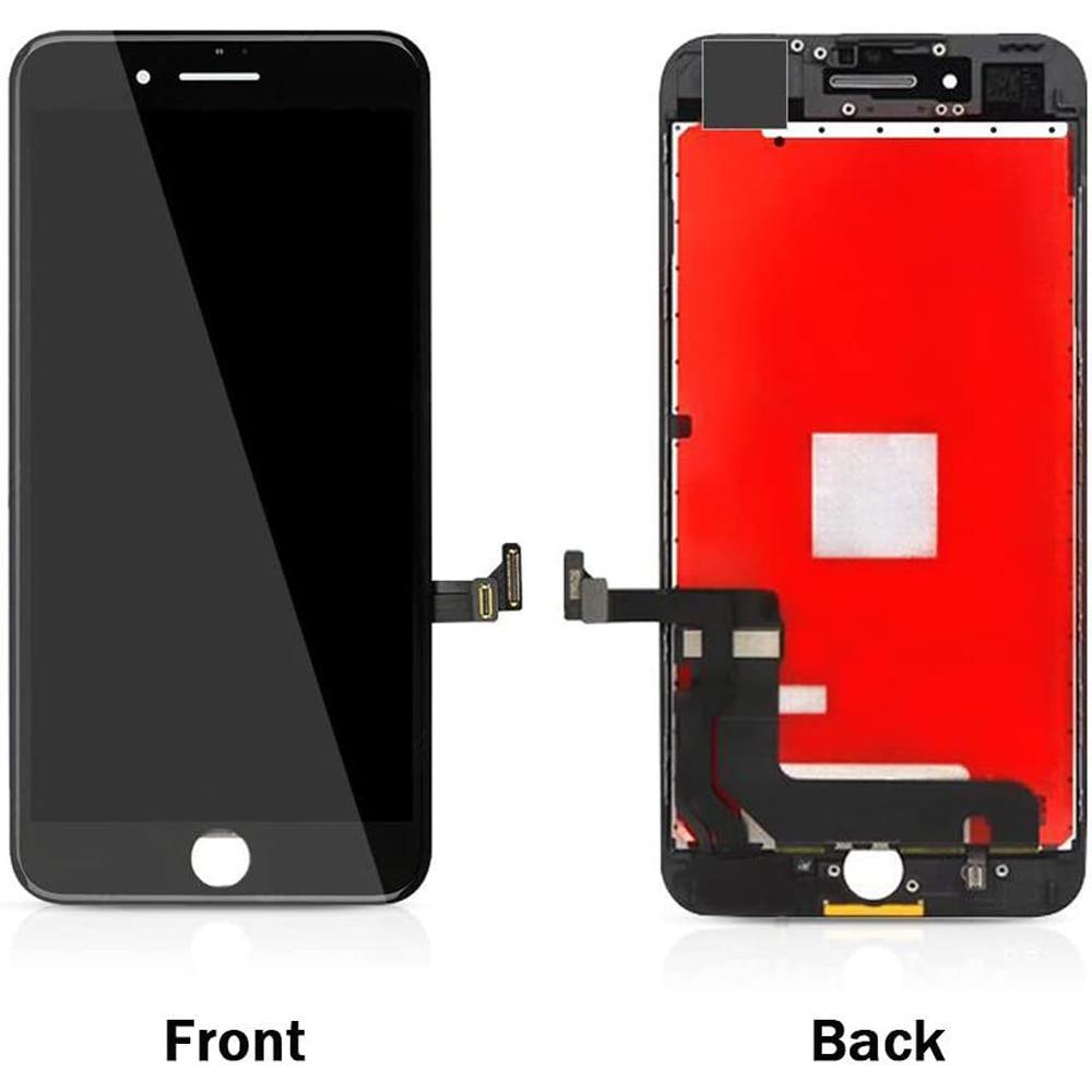 Display LCD para o iPhone 7, além do preto branco Painéis de toque de tela transporte digitador plena Assembleia DHL