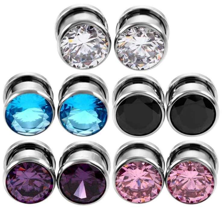 hombre, mujer, Earlets cuerpo de la manera joyería Gauge expansores Orejas de alta calidad Expansores anillos al por mayor