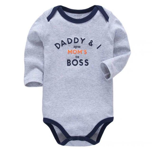Детские мальчиков Одежда для новорожденных Боди с длинным рукавом 100% хлопок Младенцы малышей 3 6 9 12 18 24 месяцев Одежда для девочек