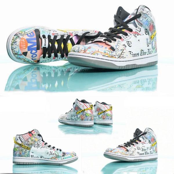 letras de la pintada hombres w2019 nuevo diseñador de la SB Dunk High zoom favorables hombres NYC baskteball zapatos para los hombres diseñador de las mujeres zapatillas de deporte del deporte atlético 36-45