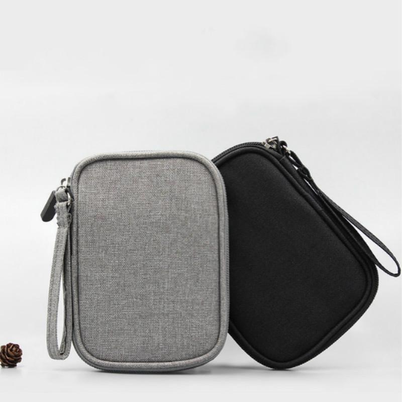 Portable Electronic Accessories Bag Power Bank Cell Phone USB Cable Flash Drive Earphone Pouch Travel Bag