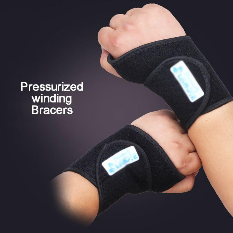 1pair spor bağ tendonu ve boşaltma ağrı koruma wristban önlemek için ayarlanabilir bileklik bandaj halter