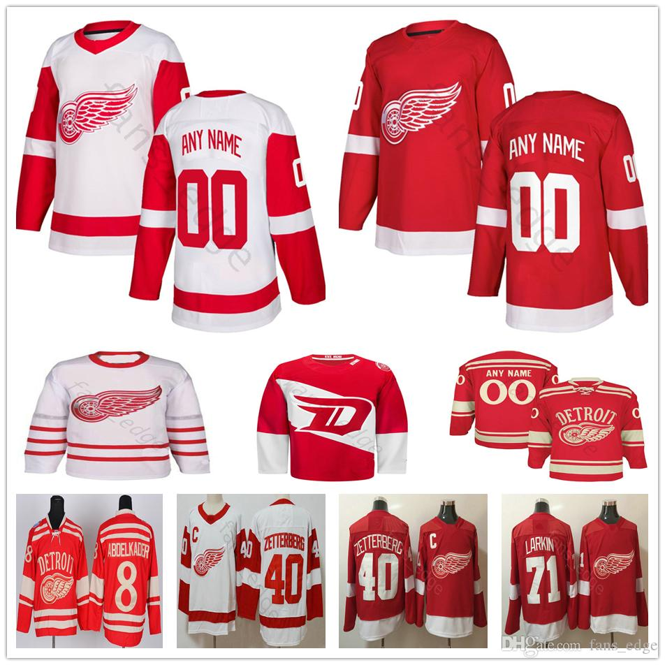 Custom Detroit Red Wings 9 Gordie Howe 8 Justin Abdelkader 39 Anthony Mantha 35 Jimmy Howard Tomas Tatar Men Women Kids Kids Hockey Jerseys