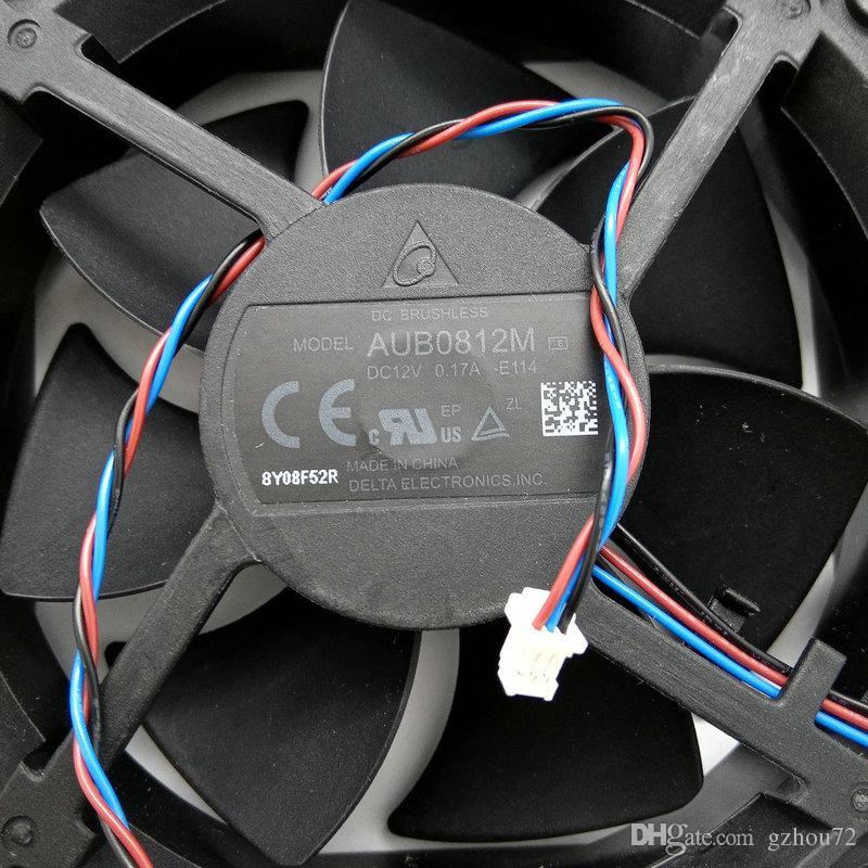 New Original Delta AUB0812M E114 DC12V 0.17A 8CM 80 * 80 * 25MM para o ventilador de arrefecimento do projector