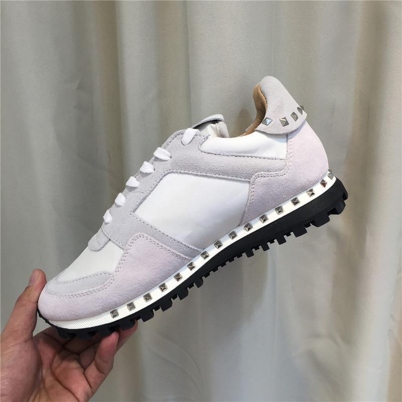[Original Box] camo camoscio borchiate scarpa da tennis camuffamento roccia corridore per le donne, gli uomini prigioniera casuale economico C03