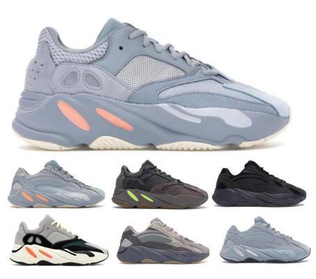 Fashion Kanye West 700 700s Running Shoes Sneakers Vanta Static Inertia Salt Tephra Geode Analog Inertia Magnet Mens Women Outdoor Shoes