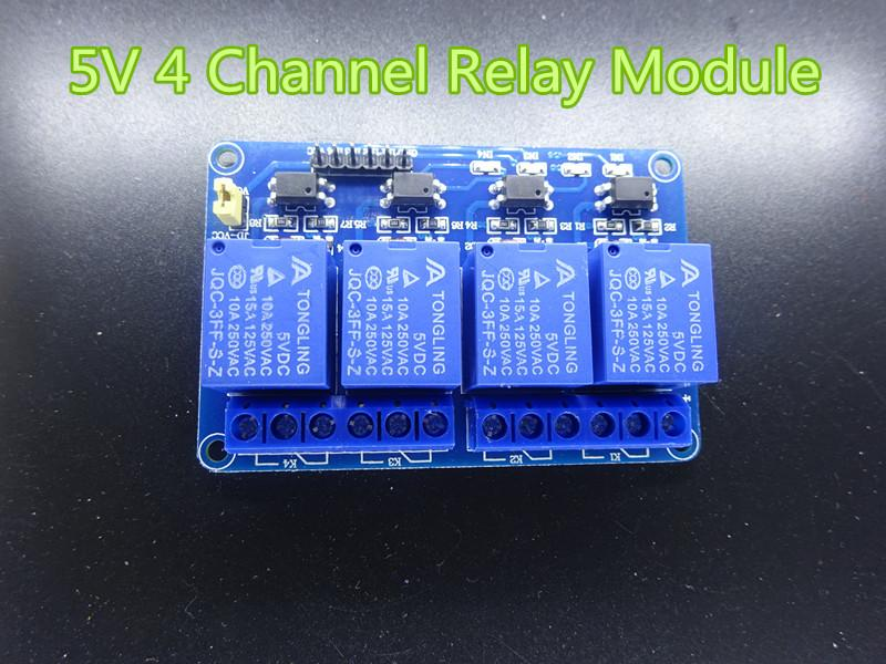 1pc/lot New 5V 4 Channel Relay Module For PIC AVR DSP ARM Arduino in stock free shipping