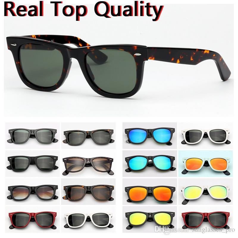 النظارات الشمسية راي الأزياء فيرر نموذج خلات مع UV400 الحقيقي النظارات العدسات الزجاجية الشمس حقيبة جلد مجانية، وحزم، كل شيء!