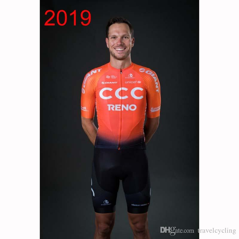 2019 CCC TEAM Cycling Clothing Bike jersey High quality Mens Bicycle summer shirts Cycling Jersey 3D GEL pad bike shorts Y052722