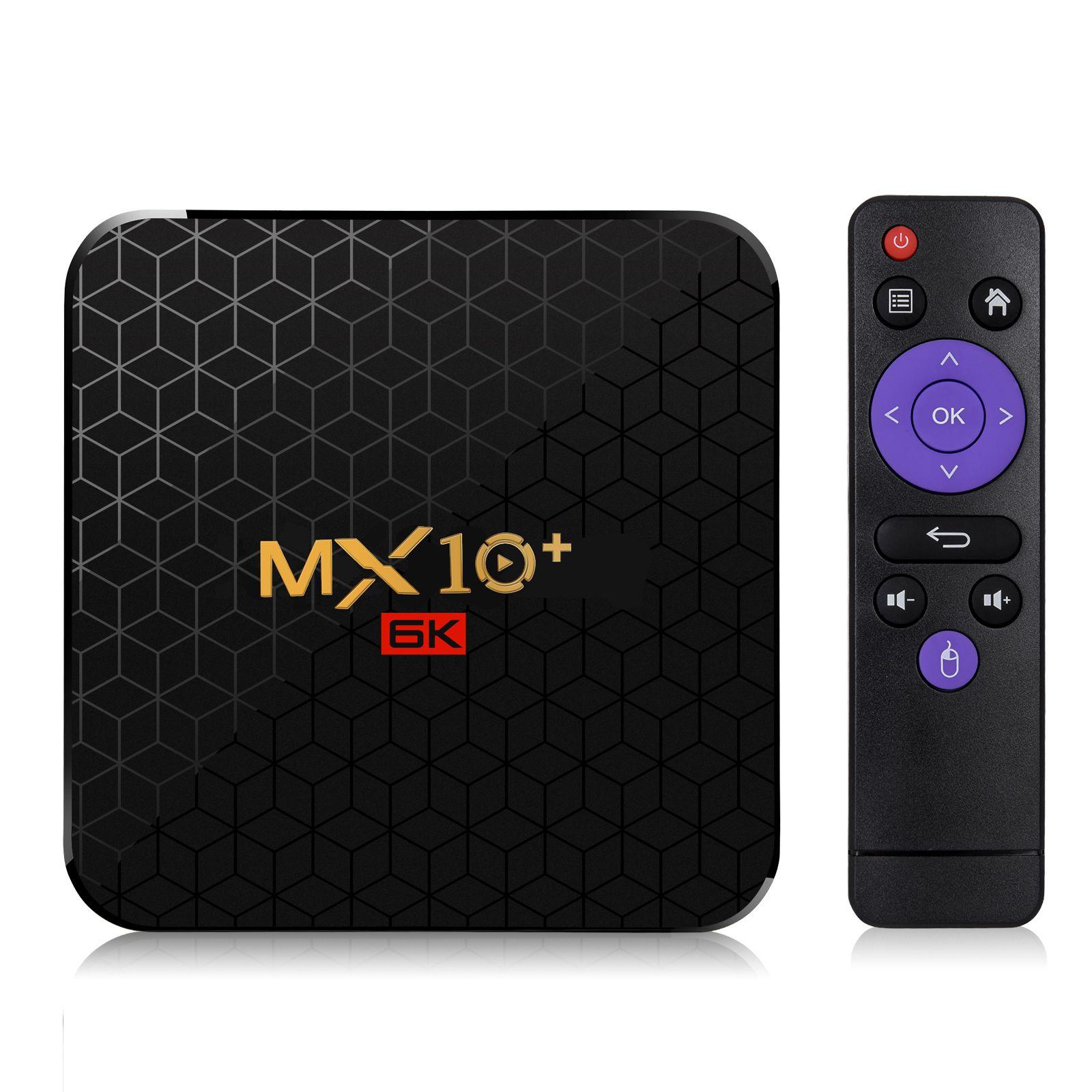 Latest android 9.0 TV BOX MX10+ allwinner H6 Quad-Core 4GB/64GB 4GB/32GB built-in 2.4G/5GWIFI&Bluetooth smart set top box omk