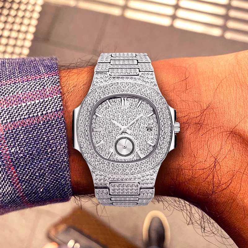 Reloj Hombre 2019 MISSFOX Uhr-Mann-wasserdicht analog-Datum-Kalender-Quarz-Uhren Sport Chronograph Iced Out Male Uhr