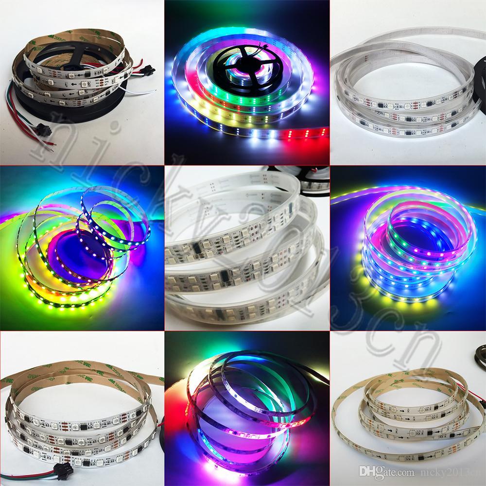 12V WS2811 5050 RGB LED Flexible Strip Light Tape Pixel 5M 150LEDs 300LEDs 450LEDs 600LEDs Addressable Dream Magic Color Double Triple Row