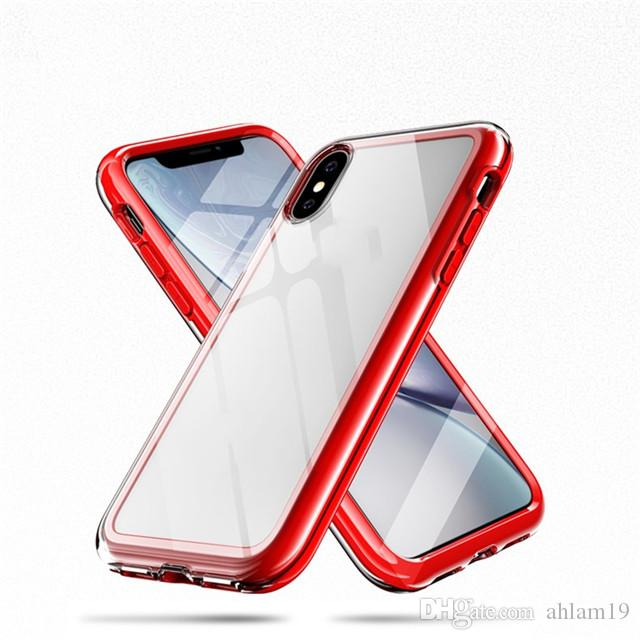 Transparent mobile phone Custom Design Shockproof Tpu+Pc Print Clear Cell Phone case for iPhone xs max