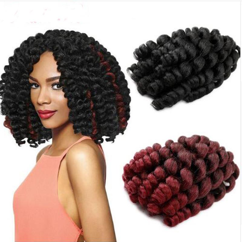 Hot Sale! 3 Packs 2X Ringlet Wand Curl JAMAICAN BOUNCE 8 inch Synthetic Hair Extensions Crochet Braids African Collection 22 roots
