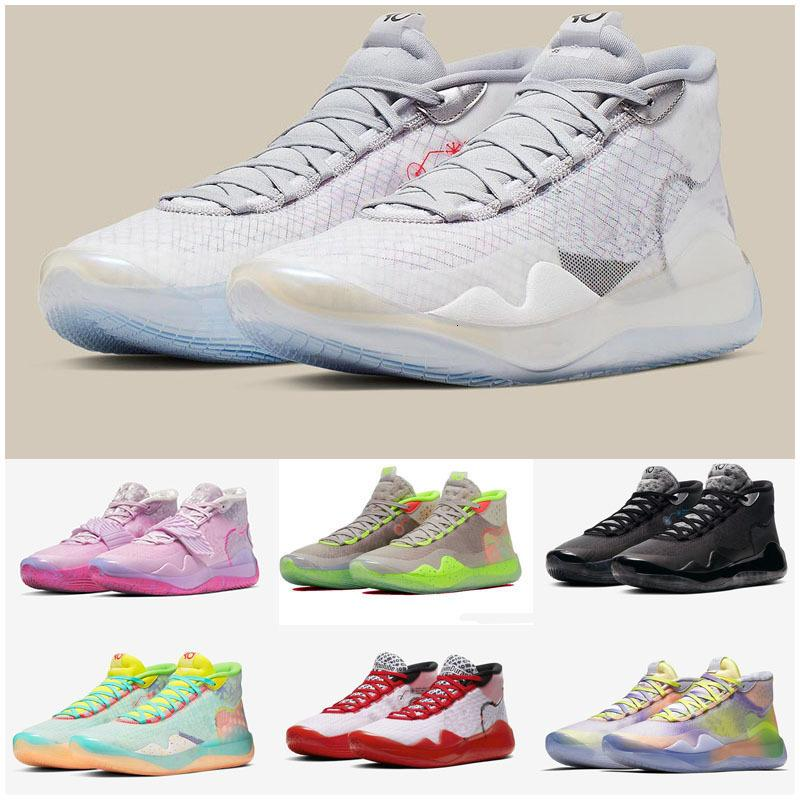 2020 New Boys Kids Kevin Durant KD 12 12S KD12 XII Zoom Men Youth Girls Kids Basketball Shoes Elite Mid Sport Sneakers
