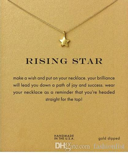 Rising Star Dogeared Necklace (Rising Star) Noble and Delicate Jewelry 18K Gold Charm Necklace Pendant Necklace Good Gift For Women Girls