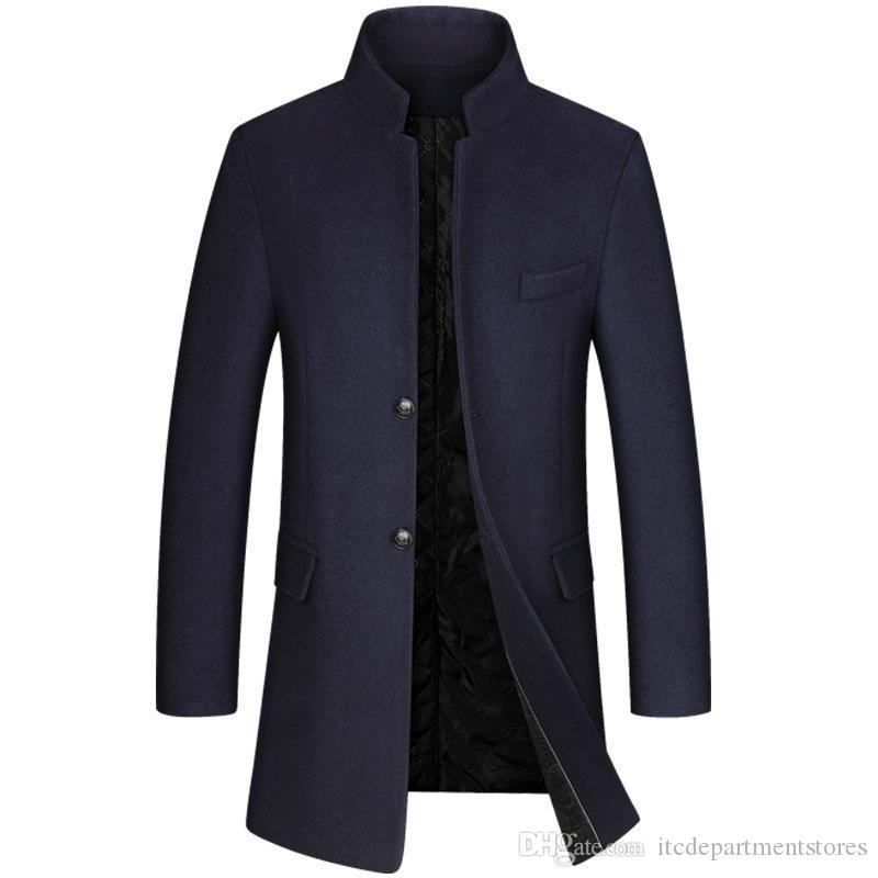 Men's Woolen Overcoat Windbreaker Jacket Men's Overcoat Men Coat Winter Men Coat Winter Mens Coats MensOvercoats