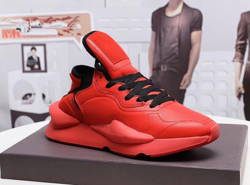 Hommes formateurs Y3 Chaussures de course Kaiwa Chunky Sneakers Kanye Hommes Femmes Sport Casual en plein air de luxe Y3 Kusari II Leathe Bottes Baskets Y4