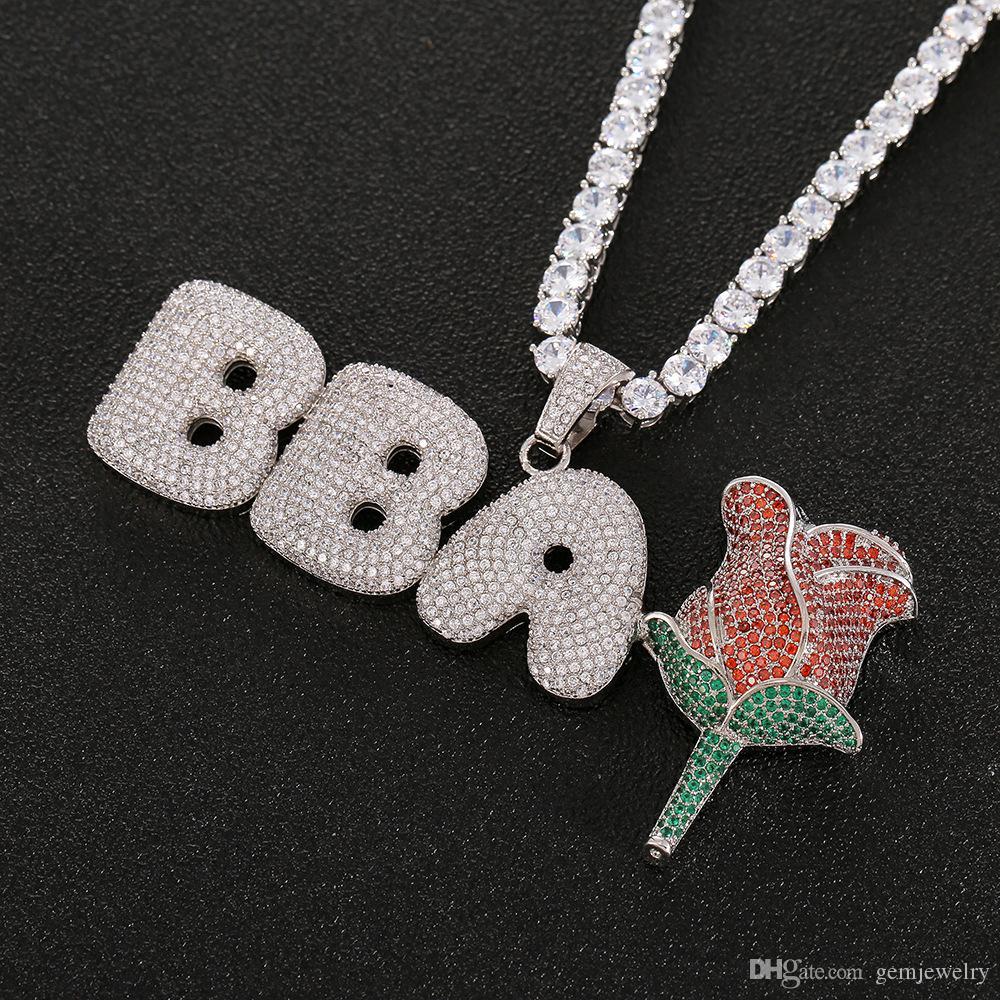 Hip Hop выполненное на заказ ожерелье мужчин Циркон Hip Hop Ювелирные изделия с Gold Silver Free Rope Chain