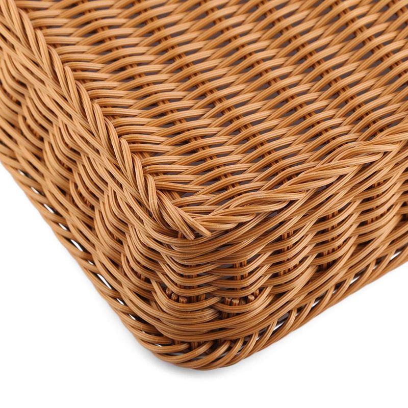 Bread Basket, Rettangolo imitazione rattan Bread Basket, Cesti alimentari di servizio, Ristorante Cestini di servizio / diplay per la frutta cibo Veget