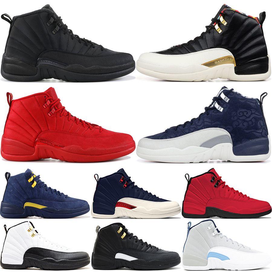 12 12S أحذية كرة السلة للرجال الشتاء الأسود WNTR CNY رياضة انفلونزا الأحمر لعبة GAMMA الأزرق تاكسي الرجال سيد الرياضة احذية US7-13
