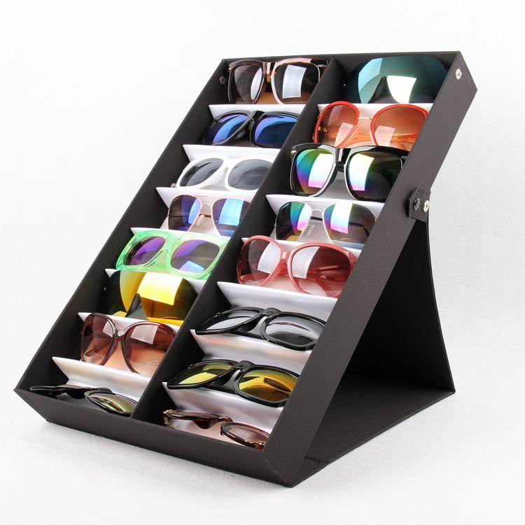 Anzeige Sonnenbrille Kasten Halter Kollektor Lagerung Faltbare Organizer Fall Box Sonnenbrille Brillen Brillen Eyewear qxmre