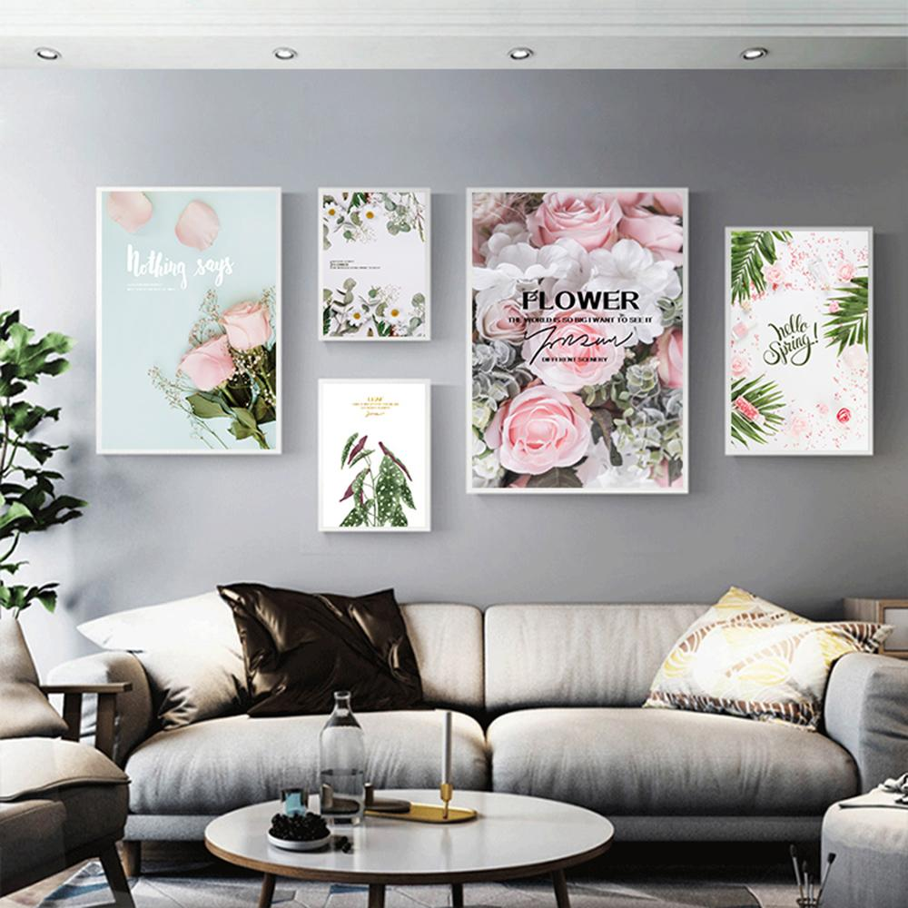 Nordic Small Fresh Flower Branch Wall Art Canvas Painting Wall Pictures For Living Room Decor Scandinavian Home Decor