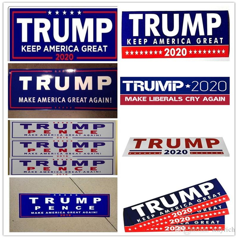 Donald Trump 2020 Car Stickers Bumper Sticker Keep Make America Great Decal for Car Styling Vehicle Paster Trump Stickers