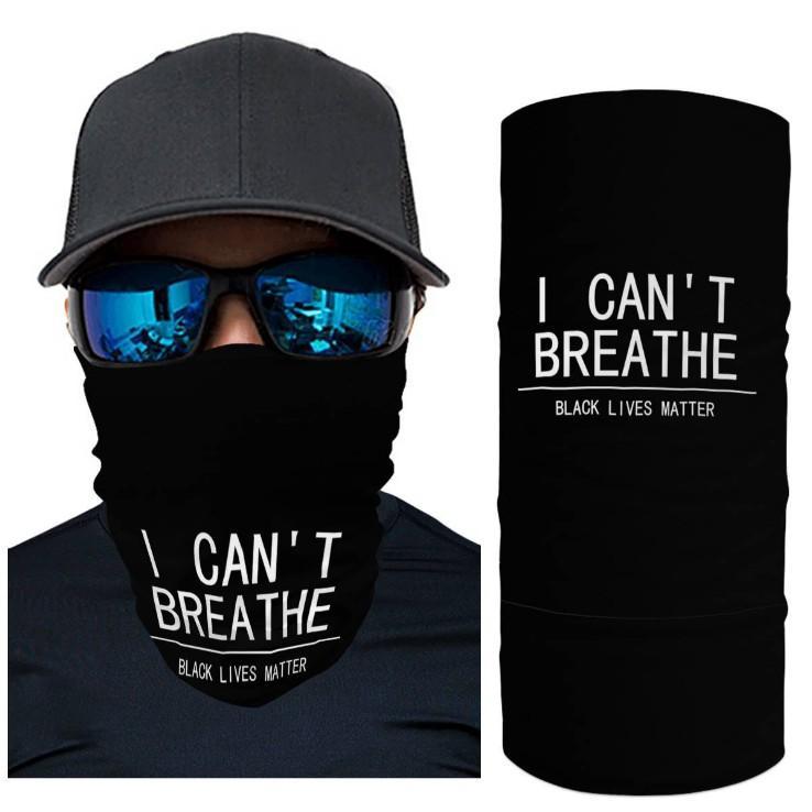 Ich kippe Atem Bandana Schlauchschal Kopf Gesichtsmaske-Ansatz Gamasche Kopfbedeckung Snood Beanie Schwarz Lives Matter