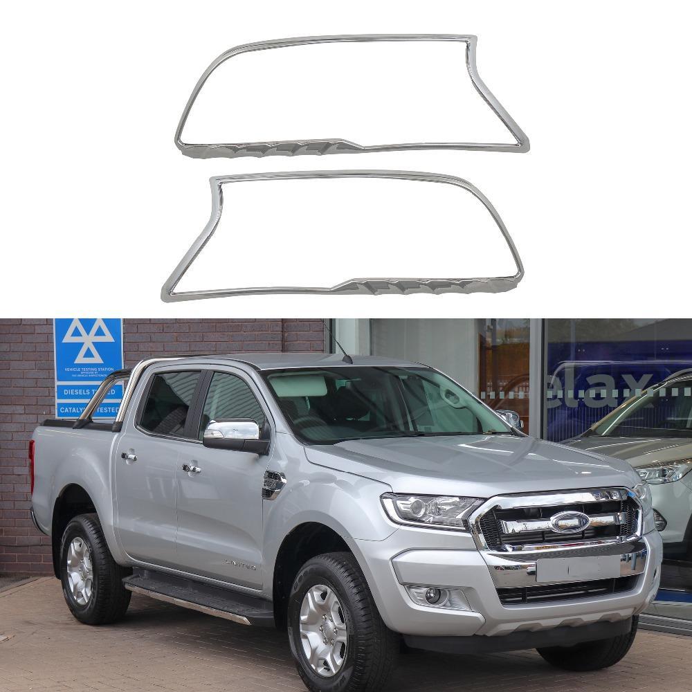 Di alta qualità della luce della testa della lampada disposizione della copertura della 2PCS Per Ranger 2015 2016 2017 2018 Styling Accessori auto