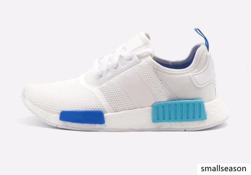 En Orjinal NMD Runner R1 Mesh Üçlü siyah beyaz Krem Salmon İl Paketi Erkekler Kadınlar Ayakkabı Sneakers NMD Runner Primeknit spor ayakkabıları Koşu